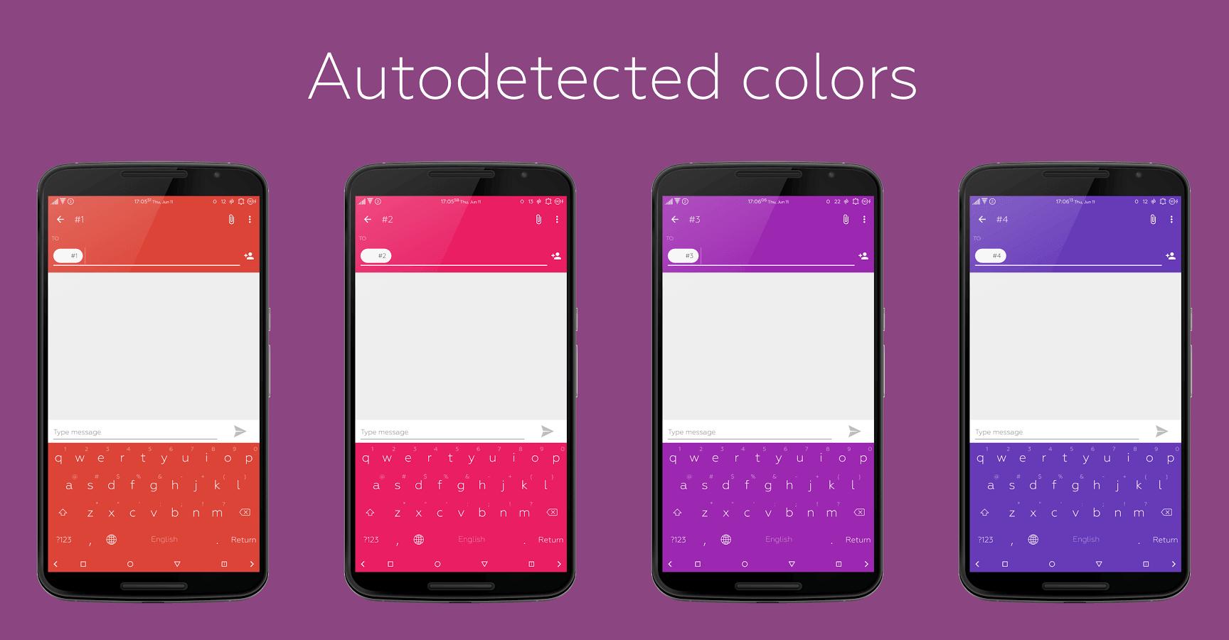 Flat Style Colored Keyboard Pro